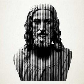 Retrato en vinilo de Jesus de Nazaret
